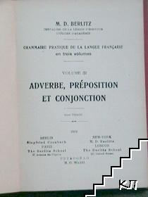 Adverbe, preposition et Conjonction