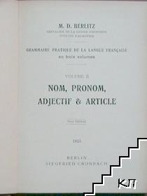 Nom, Pronom, Adjectif & Article