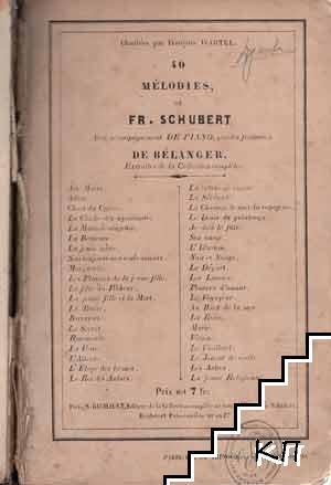 40 mélodies, de Fr. Schubert