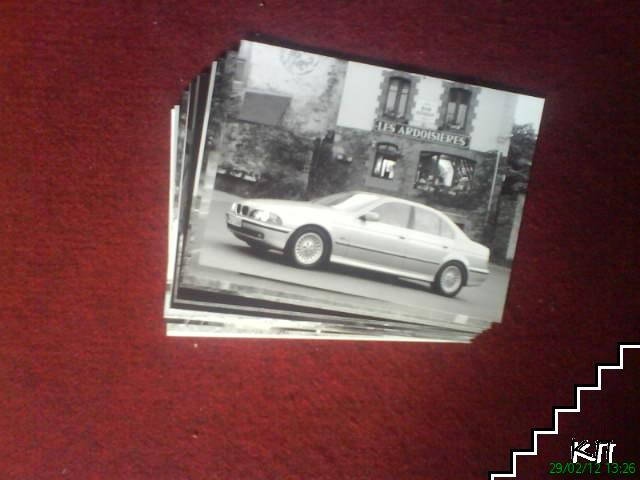 Професионални черно-бели снимки на различни модели BMW и интериора в купето