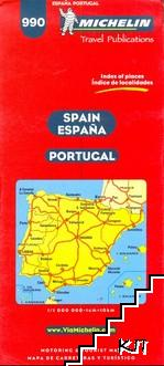 Spain, Portugal - Motoring and Tourist Map
