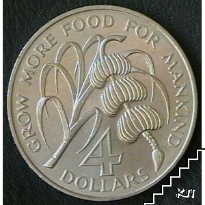 4 долара / 1970 / Барбадос