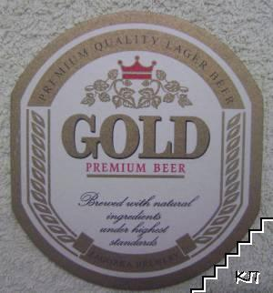 Подложка за бира Gold