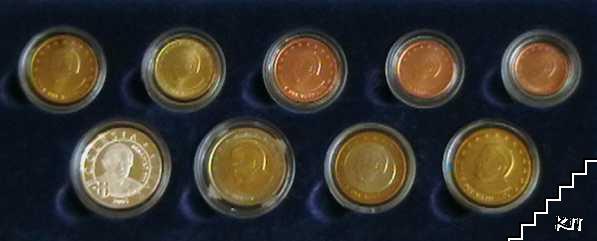 Сет пробни монети / 2005 / и сребърен плакет / Ватикан