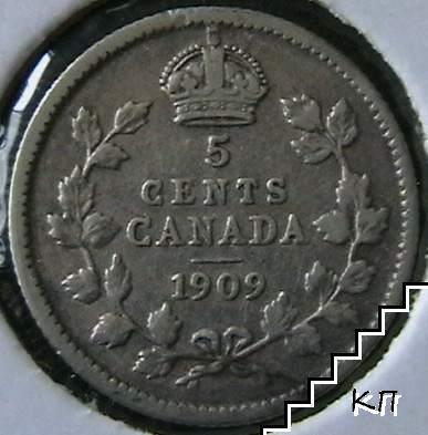 5 цента / 1909 / Канада
