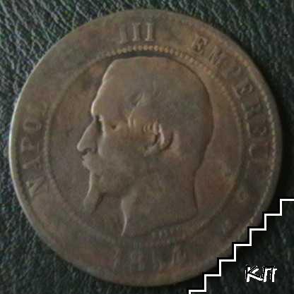 10 сантими / 1854 / Франция