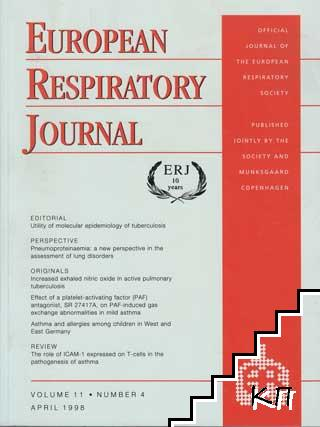 European Respiratory Journal. Vol. 11 / April 1998