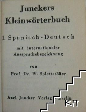 Junkers Kleinwörterbuch Spanisch-Deutsch