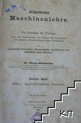 Allgemeine Maschinenlehre. Zweiter band