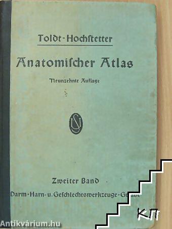 Toldt - Hochstetter Anatomischer Atlas. Band 2