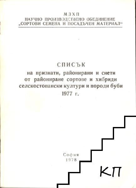 ������ �� ��������, ���������� � ����� �� ���������� ������� � ������� ��������������� ������� � ������ ���� 1977 �.