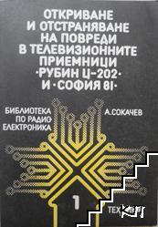 """Откриване и отстраняване на повреди в телевизионните приемници """"Рубин Ц-202"""" и """"София 81"""""""