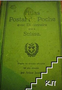 Atlas postal de poche avec dictionnaire pour la Suisse