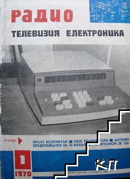 Радио. Телевизия. Електроника Бр. 1-12 / 1970 (Допълнителна снимка 1)
