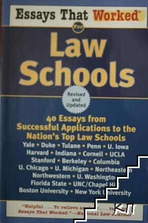 Essays that worked for Law School