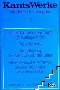 Kants Werke. Akademie Textausgabe. Band 4