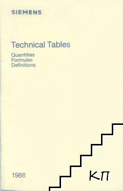Technical Tables