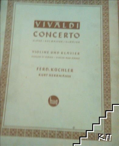 Vivaldi. Violine und klavier