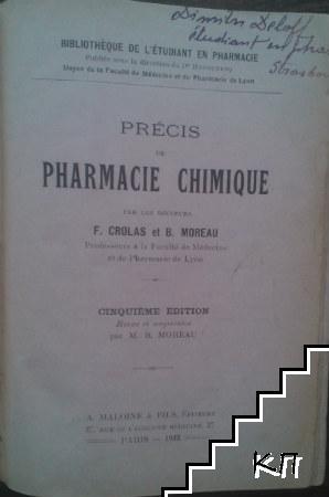 Précis de pharmacie chimique
