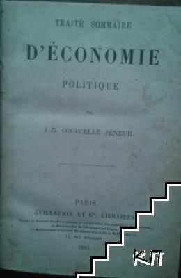 Traité sommaire d'économie politique