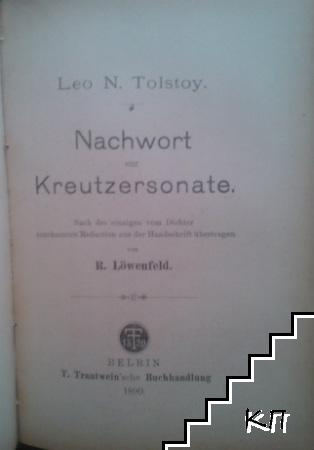Drobné klepy. Díl 1 / Nachwort zur Kreutzersonate / Die Kreutzer-Sonate