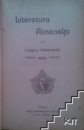 Literatura Almanako de lingvo internacia 1909 / Literatura Almanako 1910 / Internacia Krestomatio / Edzigo kontrauvola / Don Juan