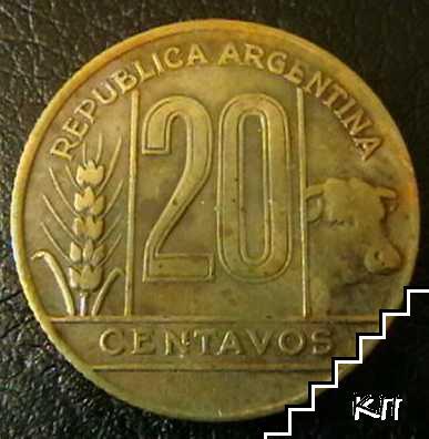 20 центаво / 1949 / Аржентина