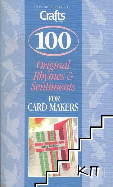 100 Original Rhymes and Sentiments for Card Makers