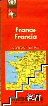 Michelin Map 989. France / Frankreich / Francia