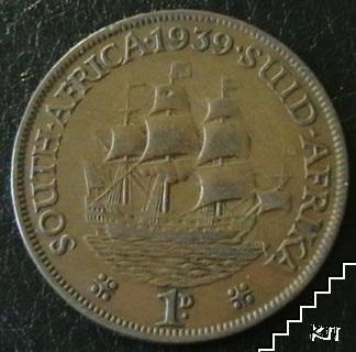 1 пени / 1939 / Южна Африка