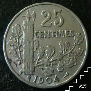 25 сантима / 1904 / Франция