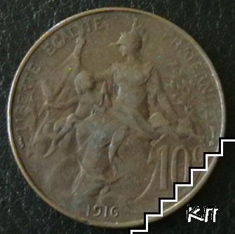 10 сантима / 1916 / Франция