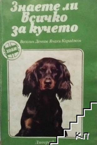 Знаете ли всичко за кучето?