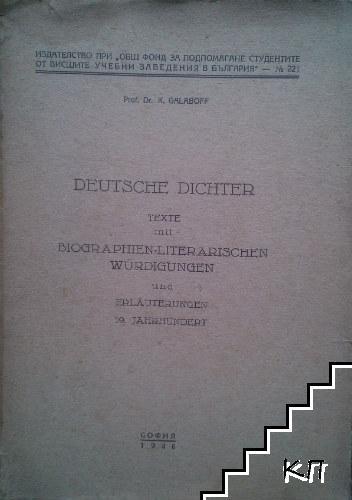 Deutsche dichter. Text mit biographien literarischen Würdigungen und erläuterungen