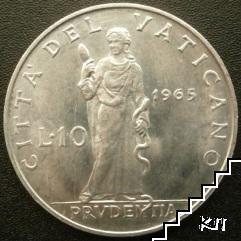 10 лири / 1965 / Ватикана