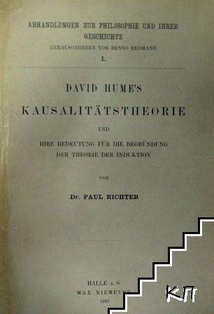 David Hume's Kausalitätstheorie und ihre Bedeutung für die Begründung der Theorie der Induktion