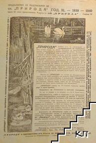 Природа. Кн. 3-6 / 1940 (Допълнителна снимка 2)