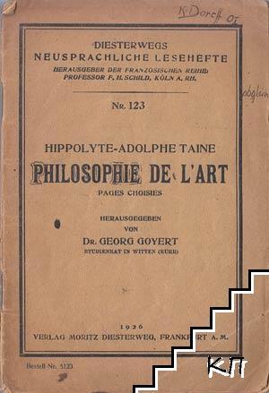 Philosophie de l'art. Pages Choisies