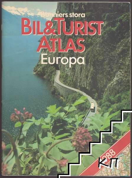 Bonniers stora Bil & Turist atlas Europa 1988