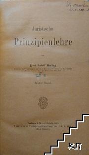 Juristische Prinzipienlehre. Band 1-3