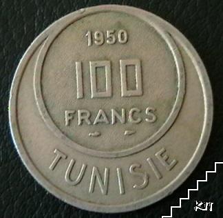 100 франка / 1950 / Тунис