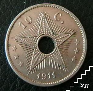 10 сантима / 1911 / Белгийско Конго