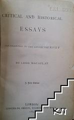 Critical and historical Essays