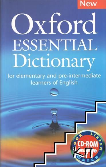 Oxford Essential Dictionary for Elementary and Pre-intermediate Learners of English + CD