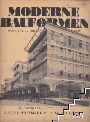 Moderne Bauformen. Heft 7 / juli 1933