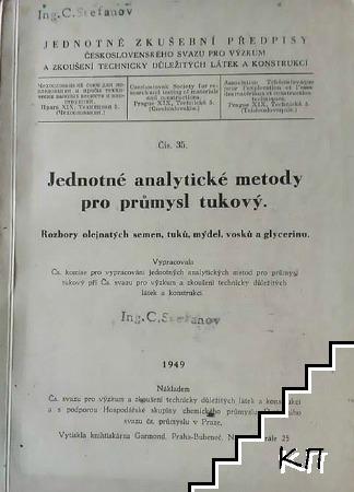 Jednotné analztické metodz pro průmzsl tukový