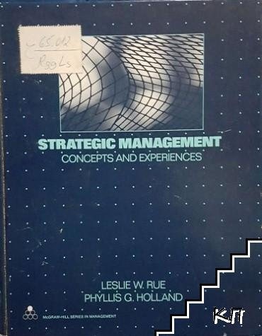 Strategic management: Concepts and experiences