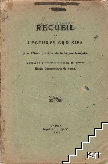 Recueil de Lectures Choisies