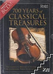 700 Years of Classical Treasures: The Complete History of Classical Music... The Composers, Their Instruments, and Works. Book + 8 CD