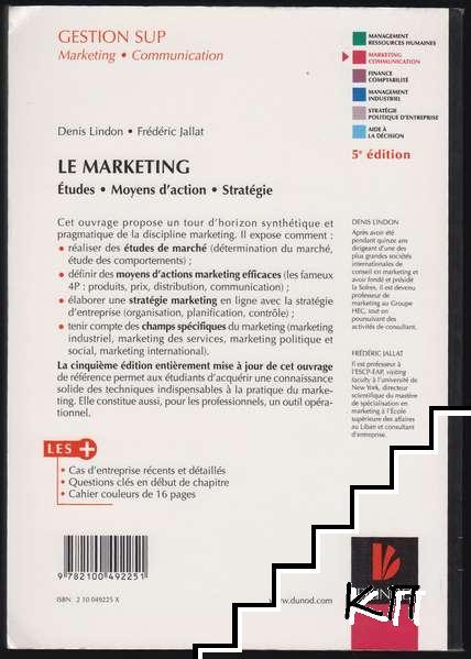 Le Marketing: Etudes, moyens d'action, stratégie